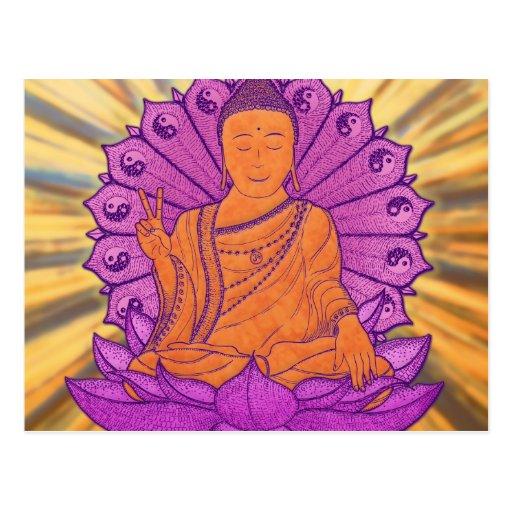 Buda iluminó tarjetas postales