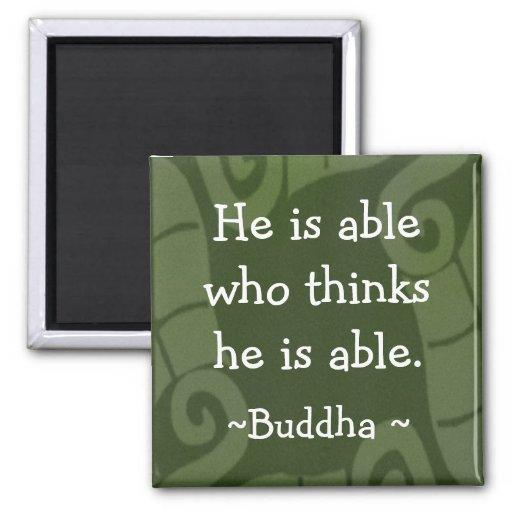 Buda inspirado cita Magnet-1 Iman De Nevera