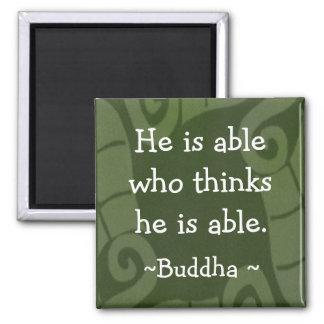 Buda inspirado cita Magnet-1 Imán Cuadrado