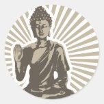 Buda irradia al pegatina