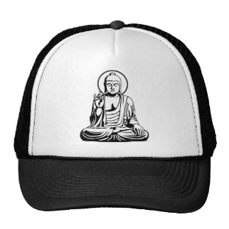 Buda joven No.1 (blanco negro) Gorros Bordados
