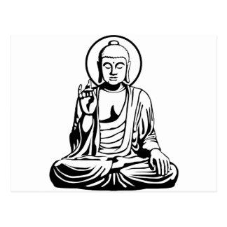 Buda joven No.1 (blanco negro) Tarjetas Postales