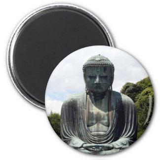 Buda kamakura se sienta imán redondo 5 cm