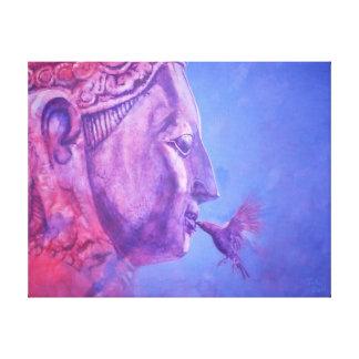 Buda Kiss Impresión En Lona Estirada