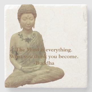 Buda la mente es todo práctico de costa de la posavasos de piedra