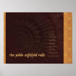 Buda: La trayectoria multiplicada por ocho noble,  Posters