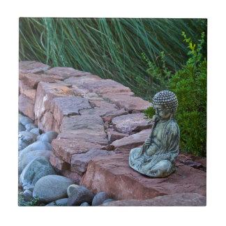 Buda meditating by the stream tiles