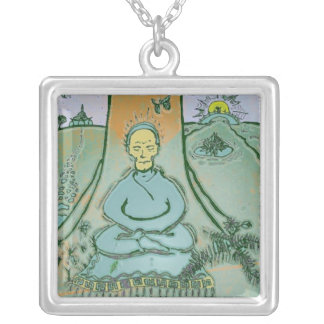 Buda Meditating debajo del collar del árbol de Bod