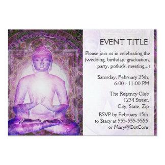 """Buda Meditating feliz Invitación 5"""" X 7"""""""