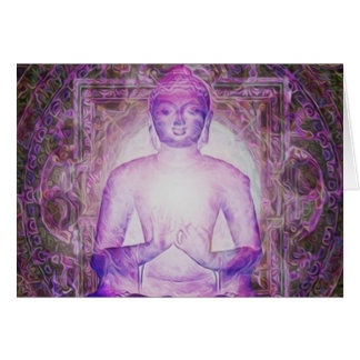 Buda Meditating feliz Tarjeta Pequeña