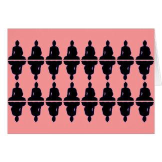 Buda negro tarjeta de felicitación