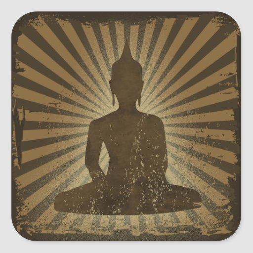 Buda Pegatina Cuadrada