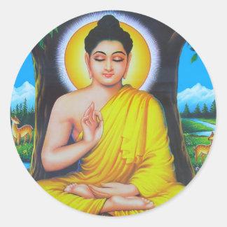 Buda Pegatina Redonda