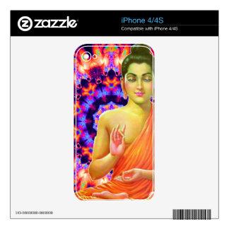 Buda psicodélico calcomanías para el iPhone 4S