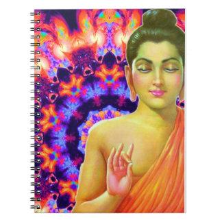 Buda psicodélico libros de apuntes con espiral