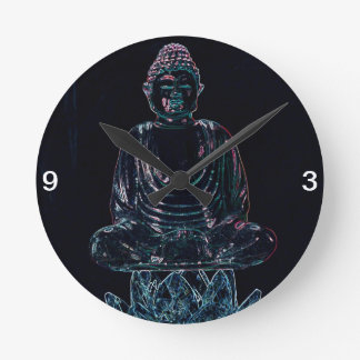 Buda que brilla intensamente relojes de pared