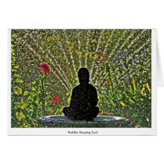 Buda que guarda Notecards fresco Tarjeta De Felicitación