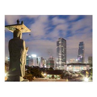 Buda que mira Seul Tarjeta Postal