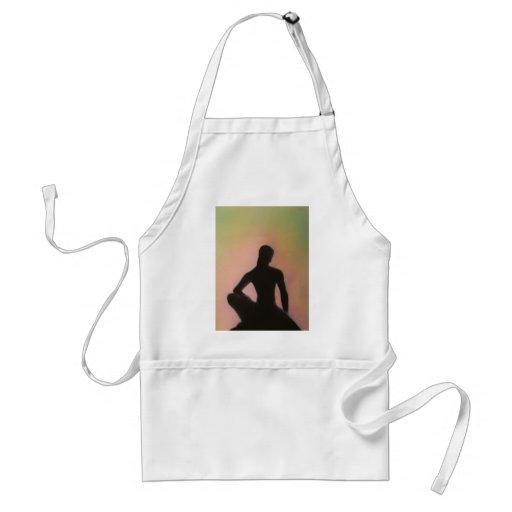 Buda que se agacha delantal