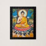 Buda que se sienta debajo del árbol de la inspirac rompecabezas