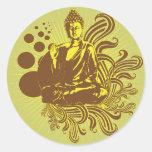 Buda remolina pegatina