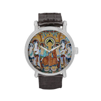 Buda rodeó por bodhisattva reloj