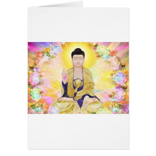 Buda rodeó por las flores felicitacion