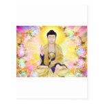 Buda rodeó por las flores postal