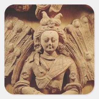 Buda Sakyamuni, a partir del 6to-7mo siglo de Calcomanía Cuadradas Personalizadas