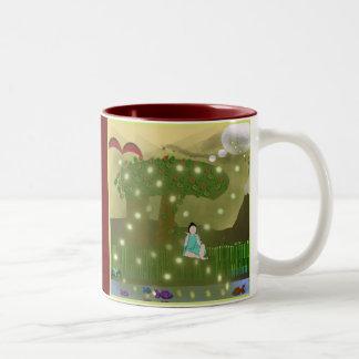 Buda secular del libro taza de café