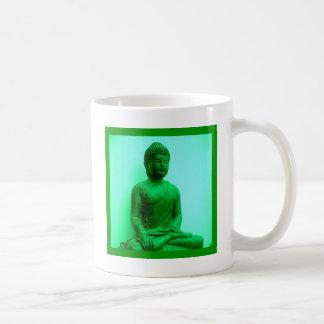 Buda sereno meditating tazas