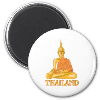 Buda Tailandia Imán Redondo 5 Cm