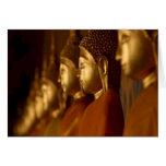 Buda Tailandia Wat/serenidad de la tranquilidad de Felicitación