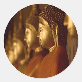 Buda Tailandia Wat/serenidad de la tranquilidad Pegatina Redonda