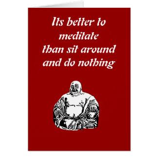 Buda Tarjeta De Felicitación