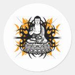 Buda tribal pegatina redonda