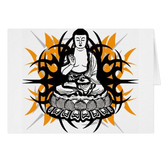 Buda tribal tarjeta