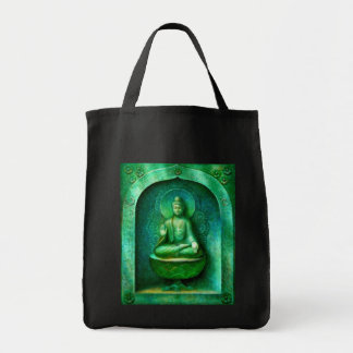 Buda verde bolsa tela para la compra