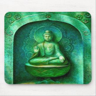 Buda verde tapete de raton