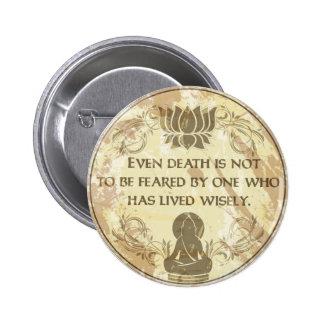 Buda vivo sabiamente pin redondo 5 cm