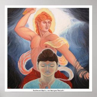 Buda y Apolo, manifestando como Manjushri Impresiones