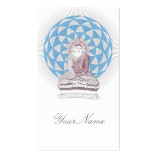 Buda y flor de Lotus que brillan intensamente Tarjetas De Visita