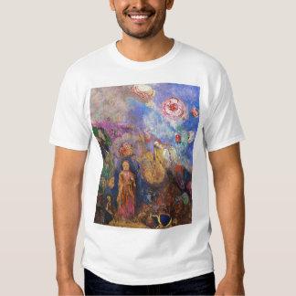 Buda y la flor de Odilon Redon Poleras