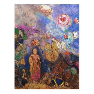 Buda y la flor de Odilon Redon Tarjetas Postales