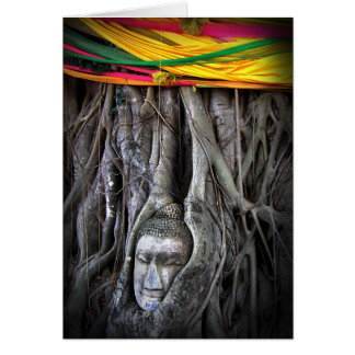 Buda y la fotografía de Tailandia del Buddhism del Tarjeta Pequeña