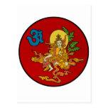 Buda y OM Tarjeta Postal