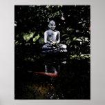 Buda y poster sonrientes de Koi