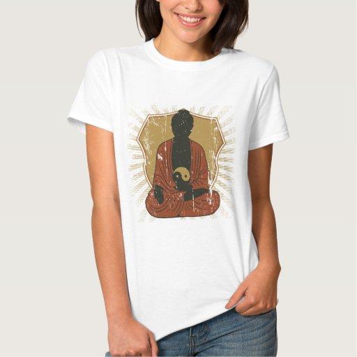 Buda Yin Meditating Yang Playeras