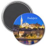 BUDAPEST 3 INCH ROUND MAGNET