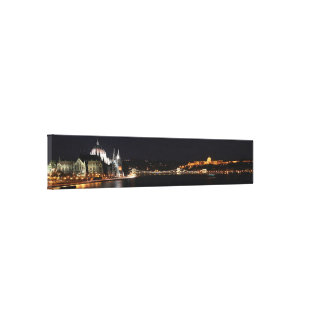 Budapest and Danube river Canvas Print